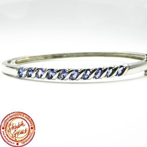 Tanzanite Silver Bracelet
