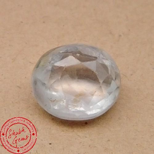 5.72 Carat  Natural White Sapphire Gemstone
