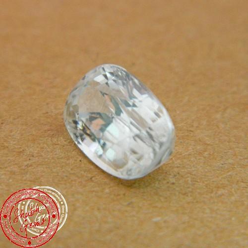 5.72 Carat Natural White Zircon Gemstone