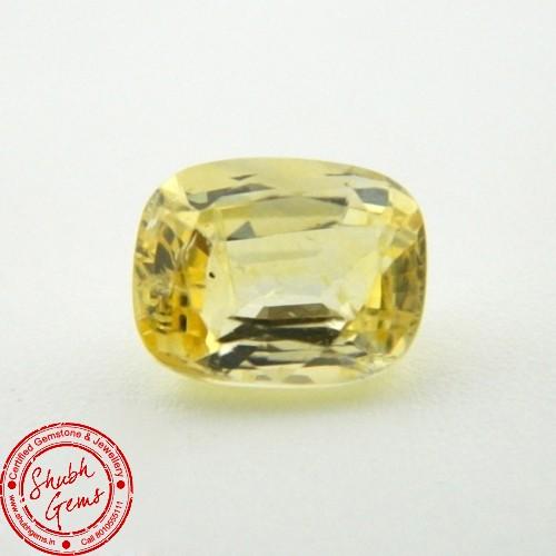 4.2 Carat Natural Yellow Sapphire Gemstone