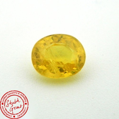 2.84 Carat Natural Yellow Sapphire (Pukhraj) Gemstone