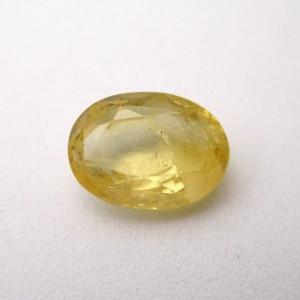 4.43 Carat/ 4.91 Ratti Natural Ceylon Yellow Sapphire (Pukhraj) Gemstone