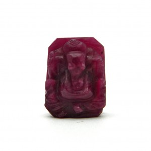 100% Natural Unheated Untreated Carved Ruby Ganesh / Lord Ganesha