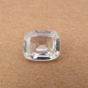3.58 Carat Natural White Zircon Gemstone