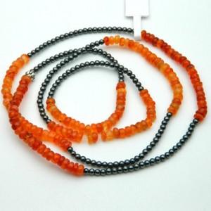 Carnelian & Hematite Gemstone Bracelet