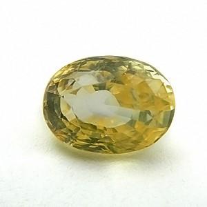 6.05 Carat/ 6.72 Ratti Natural Ceylon Yellow Sapphire (Pukhraj) Gemstone