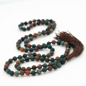 Best Quality Natural Bloodstone Mala String (24 Inch)