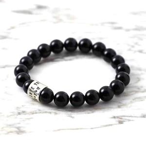 Black Agate (Hakik) Gemstone Bracelet
