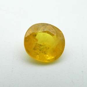 6.71 Carat Natural Yellow Sapphire (Pukhraj) Gemstone