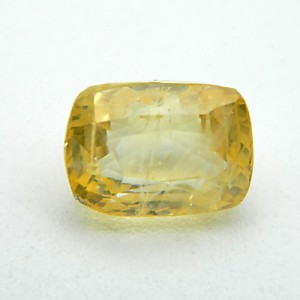 5.56 Carat Natural Yellow Sapphire (Pukhraj) Gemstone