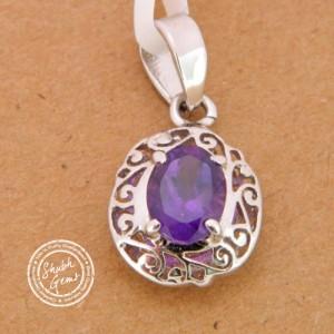 Amethyst (Katela)  Gemstone   Pendant