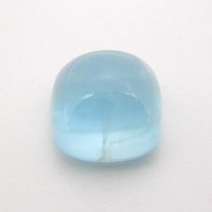 9.14 Carat Cushion Cabochon Natural Aquamarine Gemstone