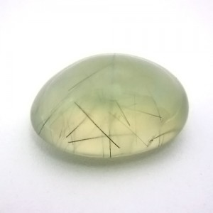 14.73 Carat Oval Cabochon Natural Prehnite Gemstone