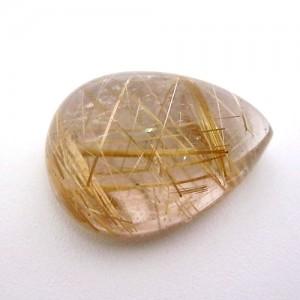 20.85 Carat Pear Cabochon Natural Rutilated quartz Gemstone