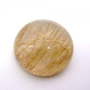 19.50 Carat Round Cabochon Natural Rutilated quartz Gemstone