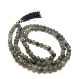 Natural Labradorite  Beads String Mala (24 Inch)