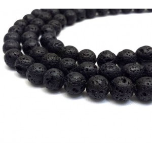 Natural Lava AAA Quality Gemstone Beads String