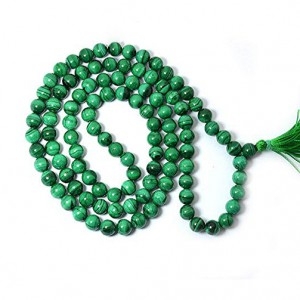 Natural Malachite 108 Beads Japa Mala Rosary