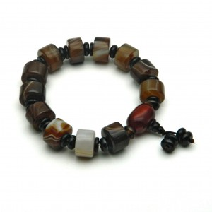 Natural Agate Beads Bracelet