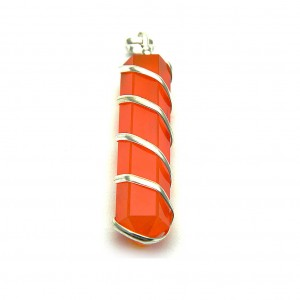 Natural Carnelian Crystal Pendant