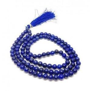 Natural Lapis Lazuli Beads String Mala (24 Inch)