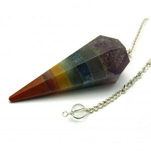 Natural Seven Chakra Crystal Pendulum