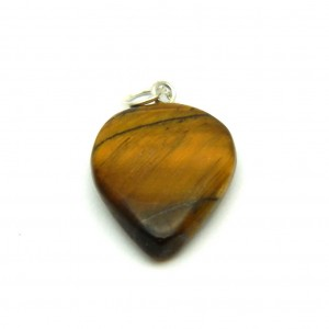 Natural Tiger Eye Crystal Heart Shape Pendant
