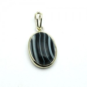 Natural Agate (Sulemani Hakik) Gemstone Pendant