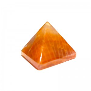 Natural Carnelian Crystal Quartz Pyramid