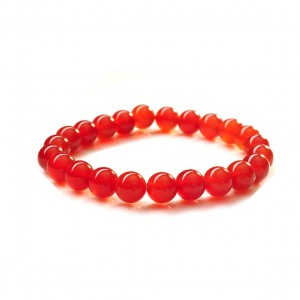 Natural Carnelian Gemstone Bracelet