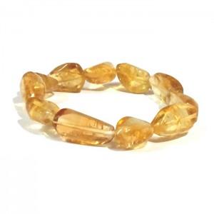 Natural Citrine Tumbled Beads Bracelet