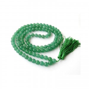 Natural Green Hakik 108 Beads Japa Mala Rosary