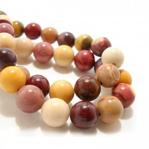 Natural Mookaite AAA Quality Gemstone Beads String