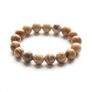 Natural Pitcher Jasper  Beads Bracelet