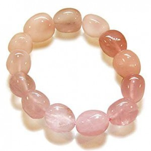 Natural Rose Quartz Tumbled Bracelet