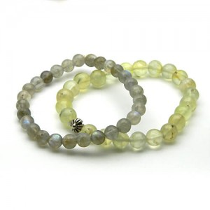 Natural Prehnite and Labradorite Bracelet