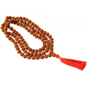 Natural 5 Mukhi Rudraksha Mala Lab Certified