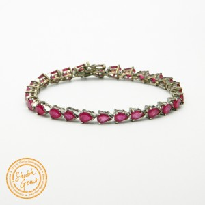 Ruby (Manik) Silver Bracelet