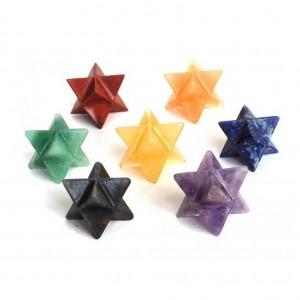 7 Chakra Healing Crystal Merkaba Set