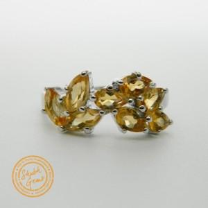 Citrine (Sunela) Silver Ring