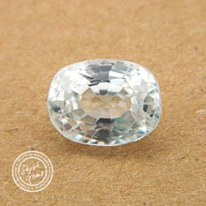 5.31 Carat Natural White Zircon Gemstone