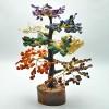 Seven chakra gemstone tree