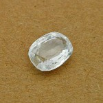 4.58 Carat Natural White Zircon Gemstone
