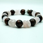 Red Tiger Eye & Rose Quartz Gemstone Bracelet