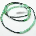 Chrysoprase & Hematite Gemstone Bracelet