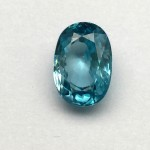 5.90 Carat  Natural Blue Zircon Gemstone