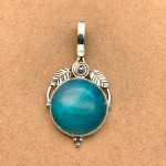 Natural Agate Sterling Silver Pendant