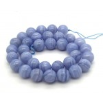 Natural  Blue Lace Agate AAA Quality Gemstone Beads String