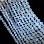 Natural Blue Rainbow Moonstone AAA Quality Gemstone Beads String