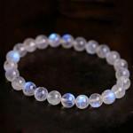 Blue Rainbow Moonstone Bracelet